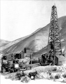 early drilling near McKittrick